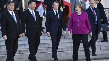 Среща на европейски лидери с китайския президент в Париж