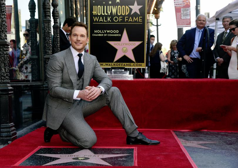 Актьорът Крис Прат със звезда на Алеята на славата в Холивуд