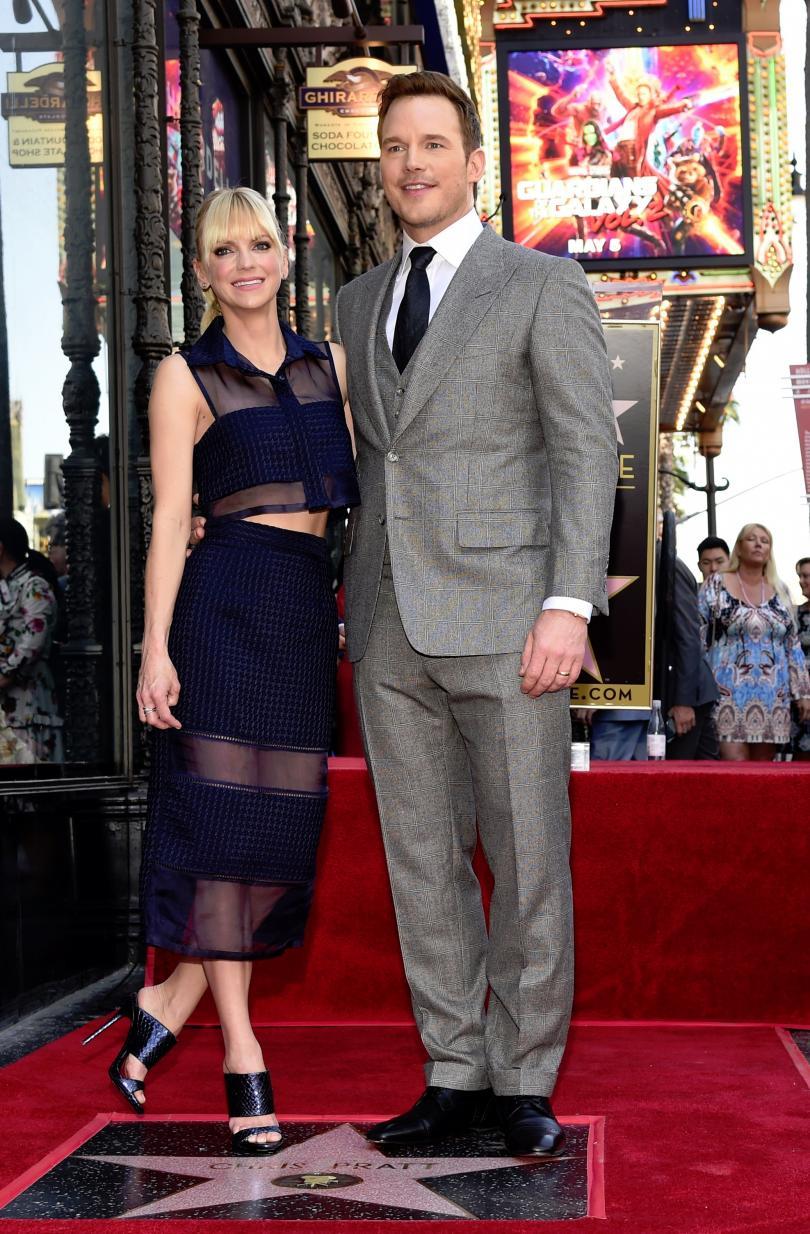 снимка 1 Актьорът Крис Прат със звезда на Алеята на славата в Холивуд
