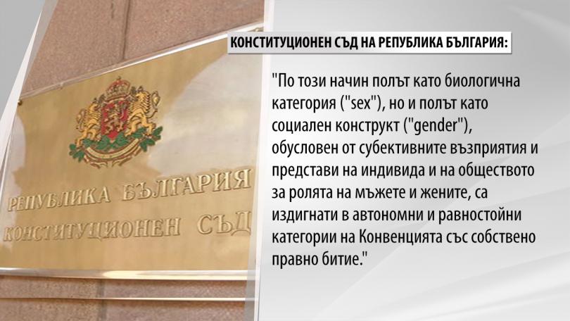 снимка 1 КС реши, че Истанбулската конвенция противоречи на основния закон в България