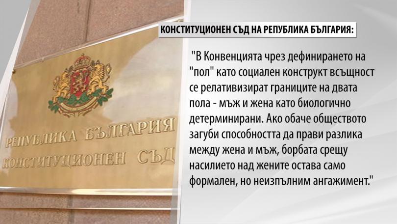 снимка 2 КС реши, че Истанбулската конвенция противоречи на основния закон в България