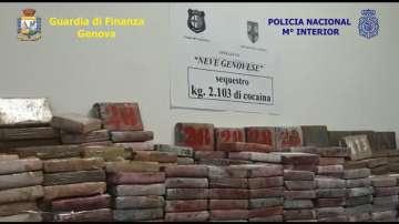 Рекордните 2 т. кокаин заловиха властите в Италия