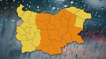 Оранжев код за обилни валежи в 16 области на страната