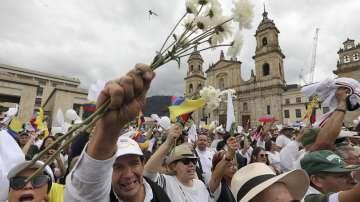 Демонстрации срещу тероризма в Колумбия