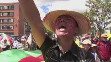 Трета национална стачка за последните две седмици се проведе в Колумбия