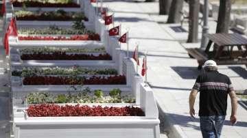 Гробове на пострадалите от опита за преврат в Турция