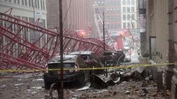 Кран падна в Ню Йорк и уби човек (ВИДЕО)