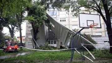 Циклонът Андреа удари Хърватия