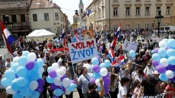 Протести срещу абортите се проведоха в няколко града в Хърватия