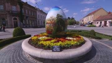 Огромни Великденски яйца радват редица европейски градове