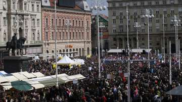 Хиляди хървати протестират срещу Истанбулската конвенция