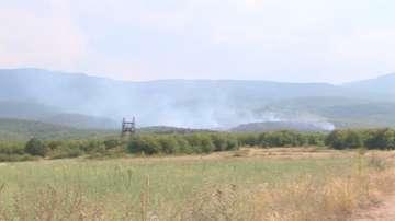 Пожар горя край пазарджишкото село Црънча