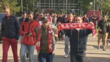 Шествие на фенове на ЦСКА блокира района на Орлов мост