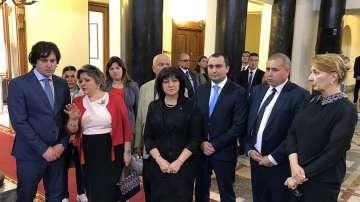 България подкрепя европейската интеграция на Грузия, увери Цвета Караянчева