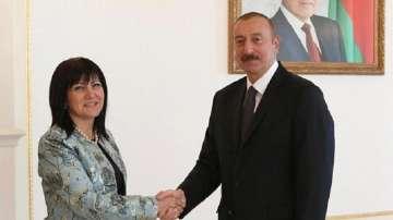 Председателят на НС Цвета Караянчева се срещна с президента на Азербайджан
