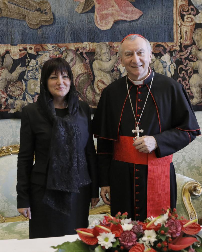 снимка 13 Папа Франциск прие водената от Цвета Караянчева делегация във Ватикана (СНИМКИ)