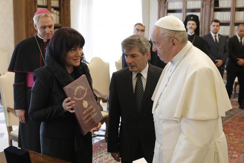 снимка 1 Българска делегация беше приета от папа Франциск за 24 май