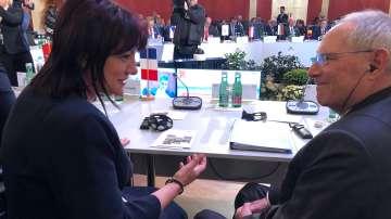 Цвета Караянчева се срещна с председателя на Бундестага Волфганг Шойбле