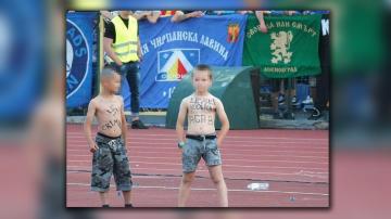 МВР издирва родителите на децата с надписи по телата от мача Левски - Славия