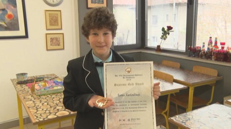 9-годишно момче от Плевен спечели златен медал на световен конкурс