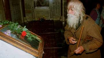 Погребват дядо Добри - светеца от Байлово