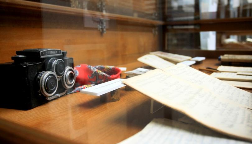 """снимка 2 Изложба """"Димитър Димов в писма и спомени"""" в Националната библиотека"""