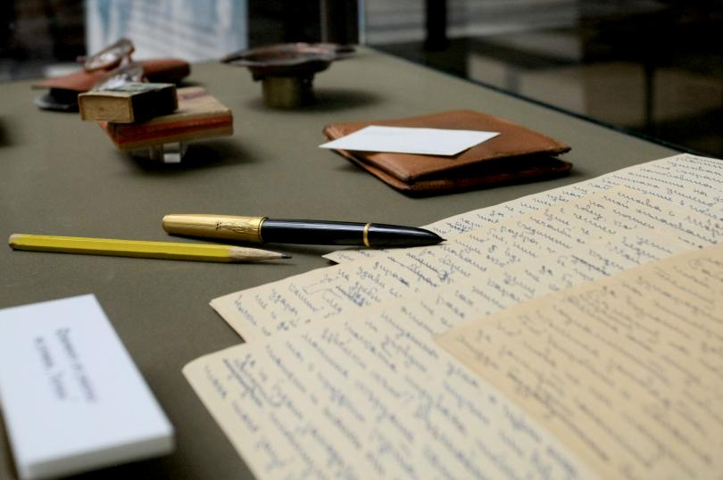 """снимка 3 Изложба """"Димитър Димов в писма и спомени"""" в Националната библиотека"""