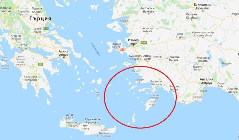 земетресение егейско море