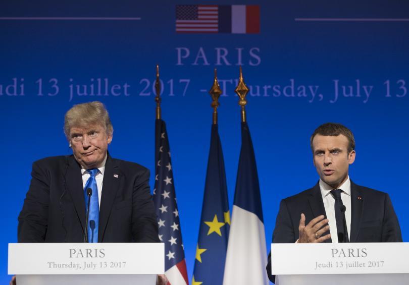 Тръмп и Макрон запазват разногласията си за климата, но са единодушни за Сирия