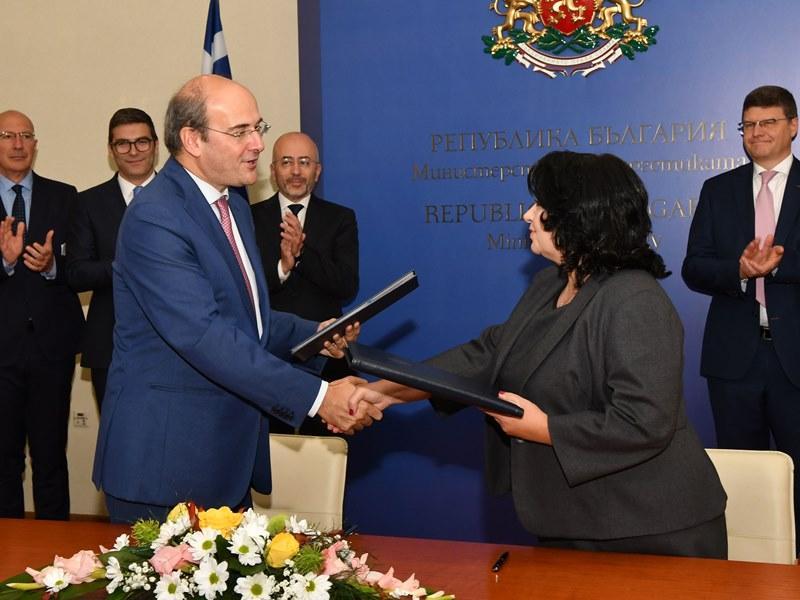 подписахме споразумения финансирането газовата връзка българия гърция