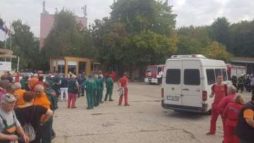 Пожар във военния завод Дунарит, евакуират работниците