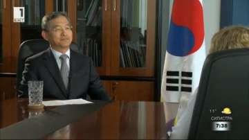 Посланикът на Република Корея Шин Бунам пред БНТ