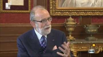 Президентът на Лигата за икономическо сътрудничество барон Бернар Сноа пред БНТ
