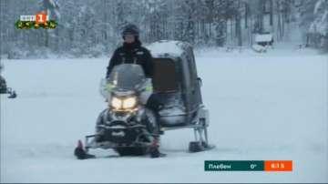 На разходка в Лапландия с електрически снегомобил
