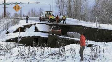 Сериозни щети след земетресението в Аляска