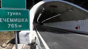 Промяна в движението в тунел Ечемишка на АМ Хемус