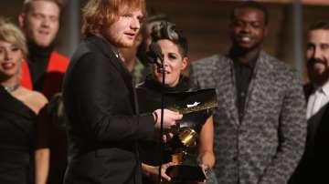 Ед Шийрън спечели Грами за песен на годината за Thinking Out Loud