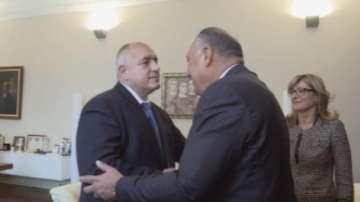 Радев, Борисов и Захариева се срещнаха с външния министър на Египет