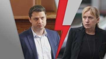 Скандал между БСП и ГЕРБ около вота на недоверие и депутата Елена Йончева