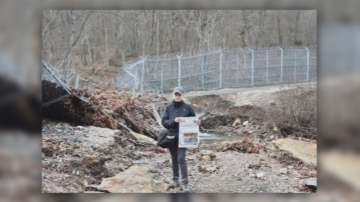 Елена Йончева отново показа срутване на оградата по границата