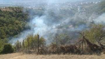 Голям пожар горя край благоевградското село Еленово (ВИДЕО)