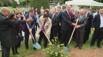 Засадиха 28 български елхички в центъра на Париж в памет на жервите на тероризма