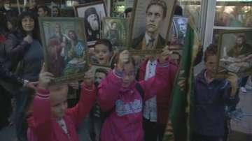 Факелно шествие за Деня на народните будители в Елин Пелин