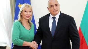 Среща на Борисов с еврокомисаря по вътрешни пазари Елжбета Биенковска