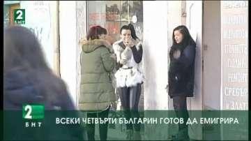 Всеки четвърти българин е готов да емигрира
