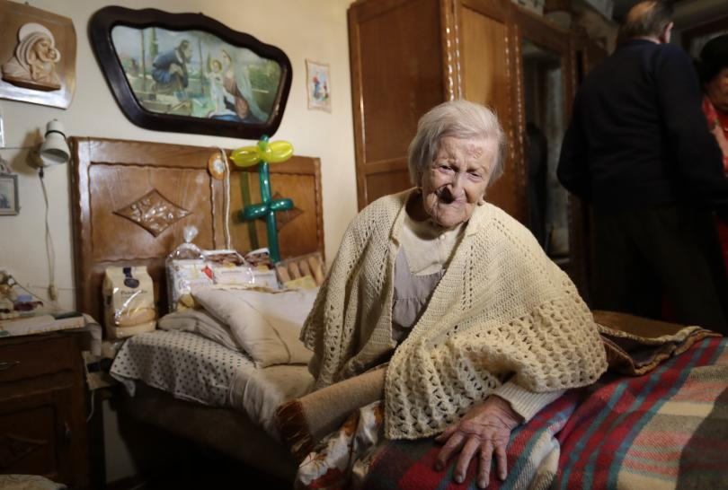 На 117 години почина най-възрастният човек - италианката Ема Морано
