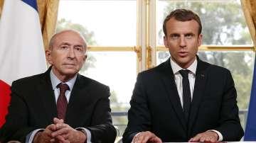 Френският президент Еманюел Макрон е приел оставката на вътрешния министър