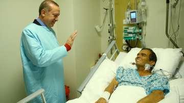 Турският президент Ердоган е посетил снощи легендарния щангист Наим Сюлейманоглу