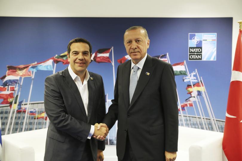 Разговорът между премиера на Гърция и президента на Турция в