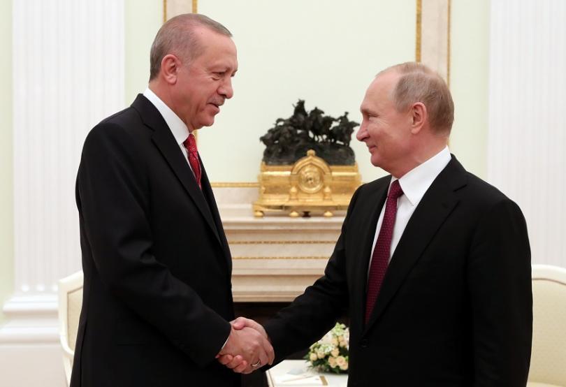 Президентът на Турция e на официална визита в Москва. Основна